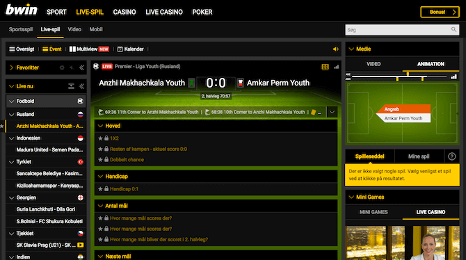 bwin live betting og streaming