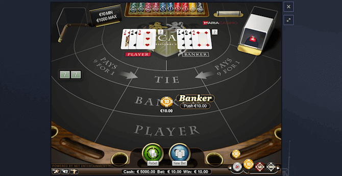 Baccarat online guide