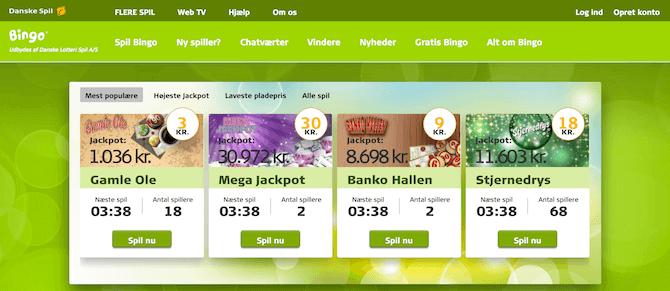 Danske Spil Bingo