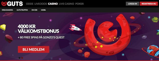 Guts Bonuskode og bonus