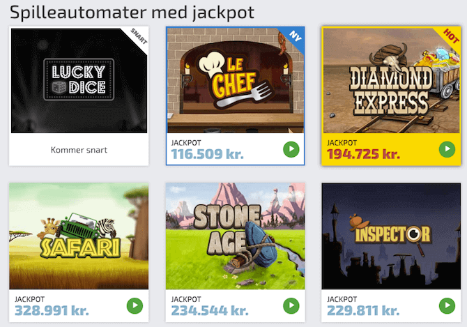Just Casino Spilleautomater