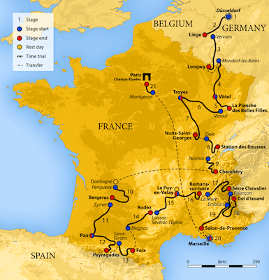 Etaper i Tour de France 2017