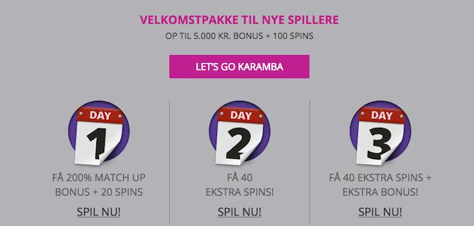Karamba gratis spins