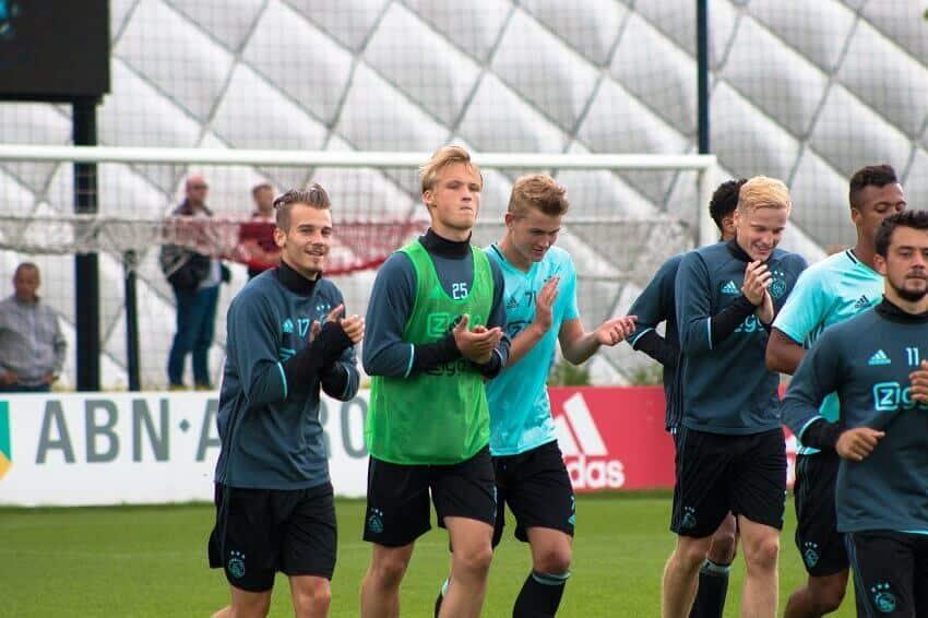 Kasper Dolberg træning i Ajax